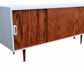 Mid Century Inspired Danish Modern TV Stand Credenza Entertainment Center 60""