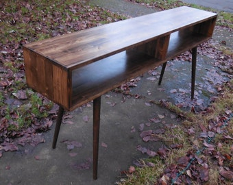 Mid Century Inspired Sofa Table / Entry Foyer Table - MADE TO ORDER