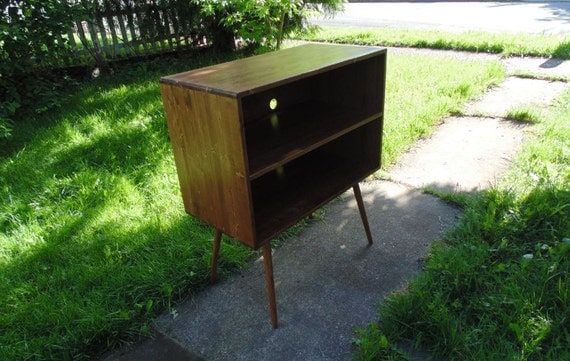 Mid Century Inspired Media Cabinet / Bookshelf