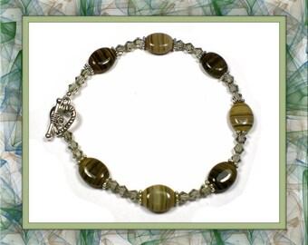 Amber Swirl Bracelet 7-1/2 inches
