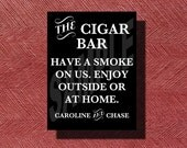 Printable Wedding Cigar Bar Sign