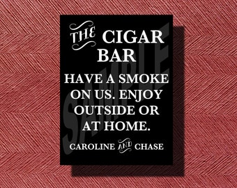 Printable Wedding Cigar Bar Sign