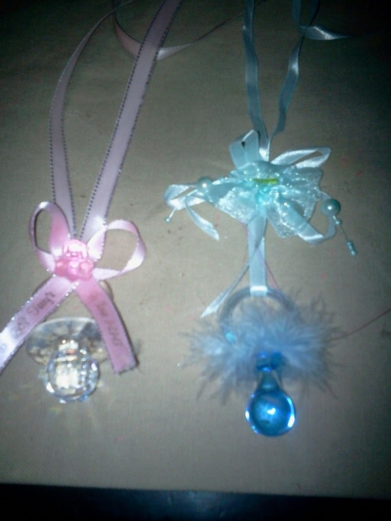 items similar to 1 doz pacifier necklace baby shower favor