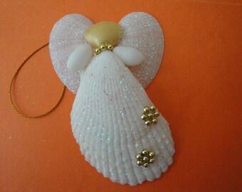 Seashells Christmas Angel Ornament