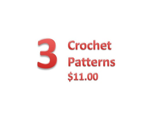 Any 3 of my Crochet Patterns PERMISSION TO SELL finish product