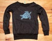 be still my Sea Turtle Sweatshirt, Turtle Sweater, Beach Top, S,M,L,XL
