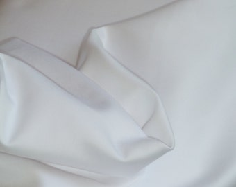 White Pima Cotton Sheen Sateen- BTY