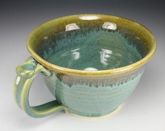 Chowder Mug Chili Mug in Green Glaze