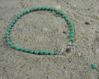 Turquoise Anklet, Free Shipping