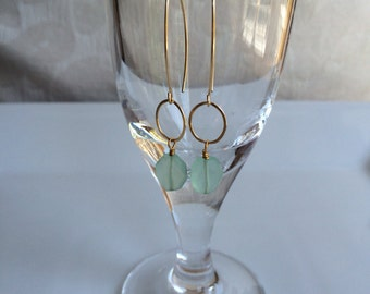 Aqua chalcedony on 14k gold filled wire