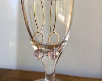 Amethyst dangle earring
