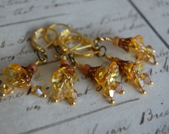 Amber Art Nouveau Inspired Removable CROCHET Stitch Markers