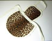Leopard sexy apron. 4 styles in 1 apron. Reversible Chef Apron. Retro apron