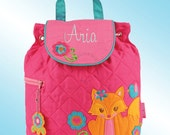 Quilted Backpack - Personalized and Embroidered - FOX
