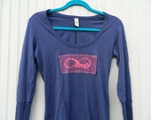 Infinity symbol, love,  long sleeve shirt with thumbholes