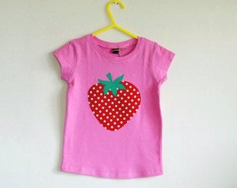 Strawberry T shirt 2-3 Years