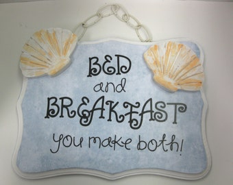 Custom Designed Bed and Breakfast plaque with shells