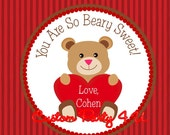 Happy Valentine's Day Bear Tags