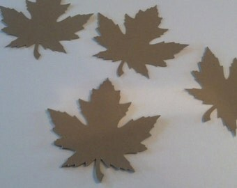 40 Kraft Paper Fall Leaves Die Cuts 3 inches
