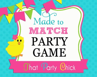 Made to Match Party Game Printable by That Party Chick