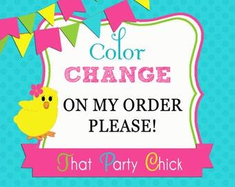 Color Changes on Order