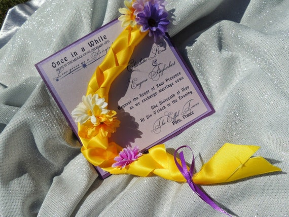 Tangled Wedding Invitation - Rapunzel Inspired Wedding Invitation - Children's Party