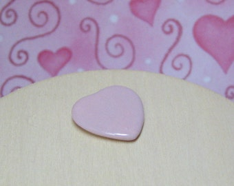 Dollhouse Miniature heart plate pink tea rose ceramic works for multiple scales 1:12 scale one inch , scale half inch