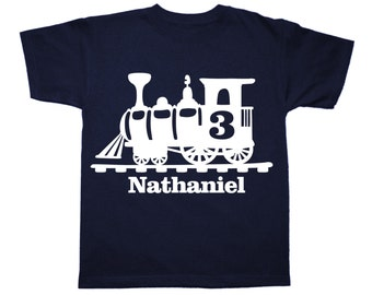 Train Birthday Shirt - Train Personalized shirt - you pick the colors - any age and name!