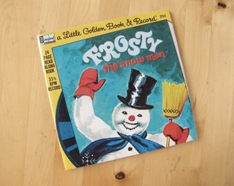 A Disneyland Record and Book - Frosty the Snowman - 24 Page Book and 33 1/3 Record