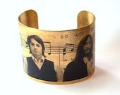 "Beatles ""All You Need Is Love"" Brass Cuff Bracelet"