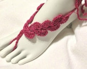 Crochet Barefoot Sandals Asymmetrical Crochet  PDF Pattern Gypsy Lace Sandals, Crochet Sandals, Beach Anklet Yoga Thong