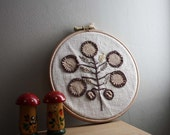 Tree of Life Embroidery by Project Sarafan. Unique Wall Hanging. Embroidery Hoop. Made in Ireland by Project Sarafan.