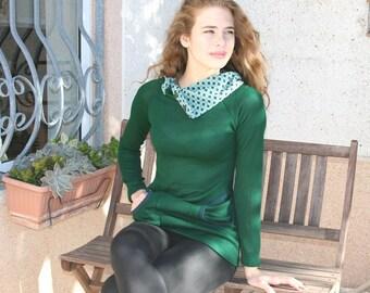 Green sweater, 25% OFF, geometric sweater,buttoned collar, sweatshirt, geometric, hoodie, sweater with pockets, green sweatshirt, yoga, cowl