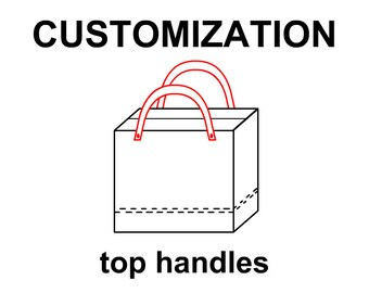 Top Handles upgrade for your tote bag, Leather or canvas handles, unique customization