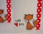 Fox Anniversary Card, I Love You Card, Fox Card, Card for Boyfriend, Card for Husband, Fox Valentine Card