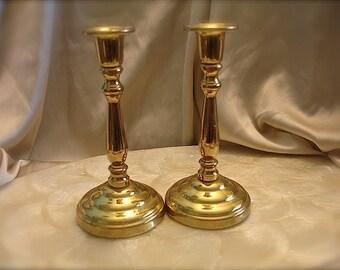 Vintage brass candlestick, candleholder, brass candle holder, rustic wedding decor