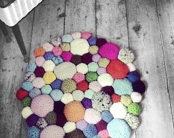 Crocheted Pebbles Rug