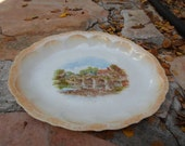China Plater Vintage Oval Imperial with Fishing Scene
