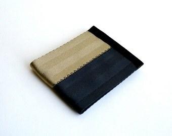 Vegan men's billfold wallet - black and tan