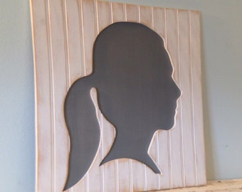 Children's Wooden Silhouettes, Perfect Gift for Mothers & Grandmothers