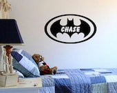Wall Decal Batman with Personalized Name Custom Vinyl Wall Decal