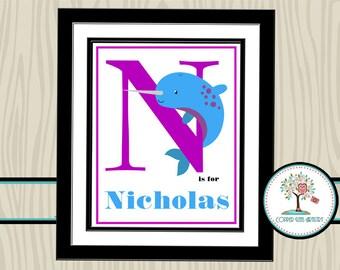 Nursery Wall Art, Nursery Name Decor, Personalized Nursery Print, Children's Room Decor, Nursery Print, Nursery Name Art, Personalized Print