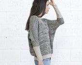 Oversized Multi color sweater -Ivory Black