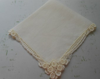 Hanky, Vintage,  Yellow, Bridal, Wedding, Hankies