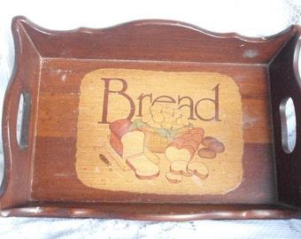Retro Wood Bread Tray