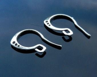 Sterling Silver Earring Ear HOOKS Findings Earwires Silver 925 Nickel Free 1 PAIR