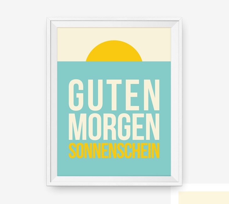 Good Morning Sunshine Letter : Guten morgen sonnenschein german good morning sunshine