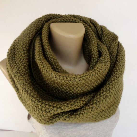 winter men scarf women scarves knitted scarf infinity scarf unisex  Men's Knitted Winter Scarves