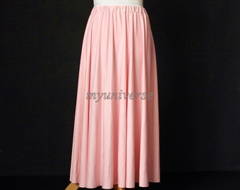 Maxi Skirt Full Length Skirt Long Skirt Baby Pink Skirt Girl Ladies Women Skirt Christmas Gifts Idea