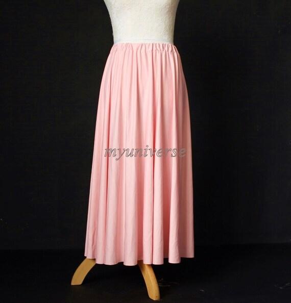 Maxi skirt full length skirt long skirt baby pink skirt girl ladies